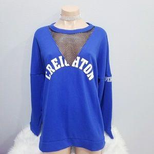 New PINK Victoria's Secret Creighton U sweat shirt